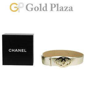 a118bfb1c3c7 シャネル CHANEL ベルト ココマーク 08/A A28530 38/95 ゴールド × ゴールド金具