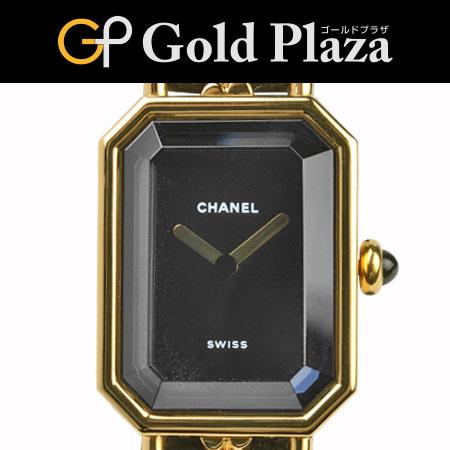 シャネル CHANEL プルミエール クオーツ式腕時計 Lサイズ レディーズ H0001 ブラックダイヤル 6ヶ月間動作保証付【中古】
