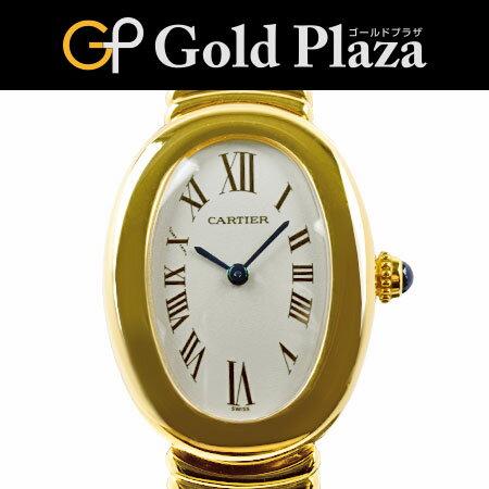 カルティエ ベニュワール K18YG 無垢ブレス W15045D8 クオーツ レディース 腕時計 6ヶ月動作保証付 代引きでのカード払い不可【中古】