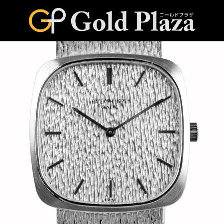 パテックフィリップ PATEK PHILIPPE OH・外装仕上げ済 ヴィンテージ 手巻き式 腕時計 メンズ K18WG ブレスタイプ Ref:3566/1 Cal.175 6ヶ月間動作保証付 代引きでのカード払い不可【中古】