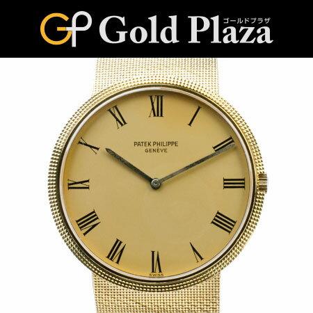 パテックフィリップ PATEK PHILIPPE OH・外装仕上げ済 カラトラバ オートマチック腕時計 メンズ K18YG ブレスタイプ Ref:3588/1 6ヶ月間動作保証付 代引きでのカード払い不可【中古】