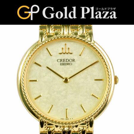 セイコー クレドール SEIKO CREDOR 8J80-6A90 18KT(K18YG) 仕上げ済 メンズ クオーツ式腕時計 6ヶ月動作保証付 代引きでのカード払い不可【中古】