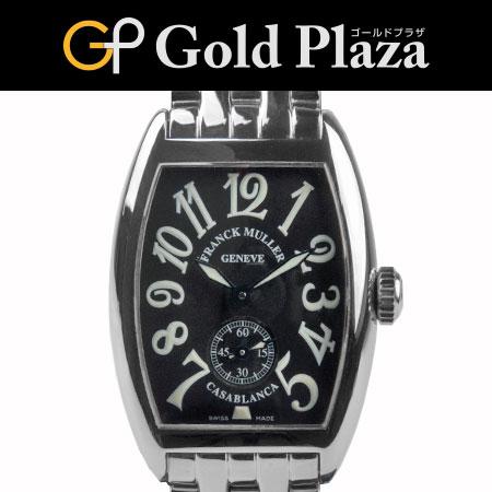 フランクミュラー FRANCKMULLER カサブランカ 手巻き 腕時計 SSブレス 外装仕上げ済 1750 S6 レディース 6か月動作保証付【中古】