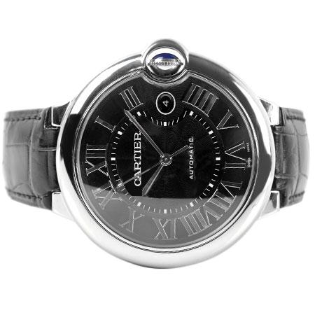 カルティエ Cartier バロン ブルー ドゥ カルティエ 42mm 自動巻き 腕時計 WSBB0003 ブラック文字盤 Dバックル SS メンズ 6か月動作保証付 代引きでのカード払い不可 【中古】