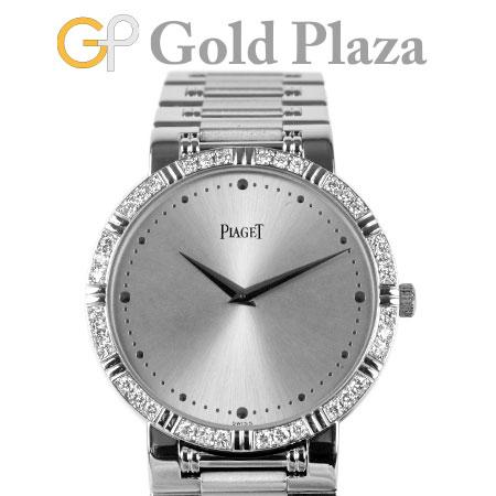 ピアジェ PIAGET ダンサー ラウンド ダイヤモンド ベゼル 84024 K81 K18WG クオーツ式 腕時計 メンズ ボーイズ 仕上げ・電池交換済 6か月動作保証付 代引きでのカード払い不可【中古】