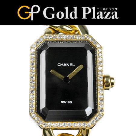 シャネル CHANEL プルミエール XL ダイヤベゼル H0113 イエローゴールド チェーン クオーツ式腕時計 仕上げ 電池交換済 K18YG 82.5g レディース 6か月動作保証付 代引きでのカード払い不可【中古】