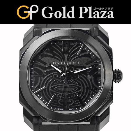 ブルガリ BVLGARI オクト オールブラック BGO41BSBLD/AB 自動巻き 記念モデル メンズ 腕時計 6ヶ月動作保証付 代引でのカード払い不可【中古】