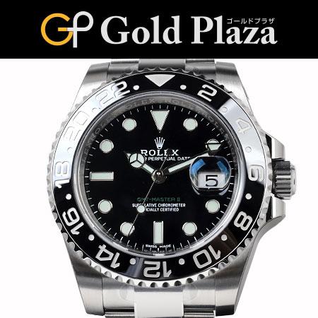 ロレックス ROLEX '17年販売品 GMTマスター2 116710LN ランダム ブラック SS 自動巻き メンズ 腕時計 6ヶ月動作保証付 代引でのカード払い不可【中古】