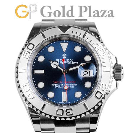 ロレックス ROLEX ヨットマスター 40 ロレジウム Ref.116622 ランダム番 ブルー メンズ 自動巻き 腕時計 ステンレス×プラチナ 6か月動作保証付 代引きでのカード払い不可【中古】