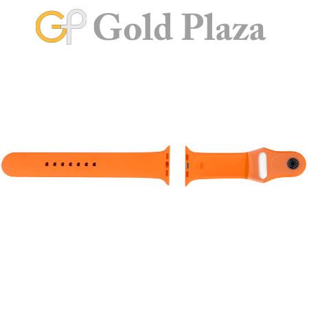 エルメス HERMES Apple Watch Hermes アップルウォッチ用 スポーツバンド 42mm M/L オレンジ 腕時計替えベルト【中古】