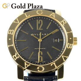 ブルガリ BVLGARI ブルガリブルガリ 自動巻き 腕時計 BB42GL AUTO 外装仕上げ済 K18YG × レザー メンズ 【中古】