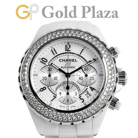 シャネル CHANEL 【OH済】 J12 H1008 41mm ダイヤモンド ベゼル ホワイト セラミック メンズ 腕時計 自動巻き クロノグラフ ホワイト文字盤 6か月動作保証付【中古】