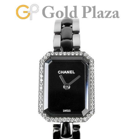 シャネル CHANEL プルミエール ダイヤモンド ベゼル H2163 '18年購入品 SS×ブラックセラミック クオーツ式 レディース 腕時計 6か月動作保証付 代引きでのカード払い不可【中古】