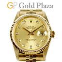 ロレックス ROLEX 【OH済】 デイトジャスト 16238G T番 自動巻き 腕時計 ゴールド 文字盤 10P 新ダイヤ K18YG メンズ …