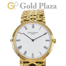 パテックフィリップ PATEK PHILIPPE 【OH・仕上げ済】 カラトラバ 3821/001 手巻き K18YG(イエローゴールド) メンズ 腕時計 ホワイトダイヤル 177【中古】