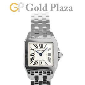 カルティエ Cartier サントス ドゥ モアゼル SM W25064Z5 レディース 腕時計 SS クォーツ シルバー文字盤【中古】