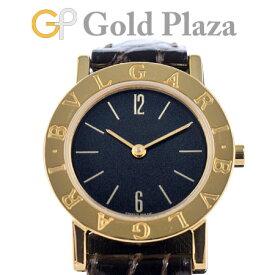 ブルガリ BVLGARI ブルガリブルガリ K18YG クォーツ レディース 腕時計 レザーストラップ BB26GL【中古】
