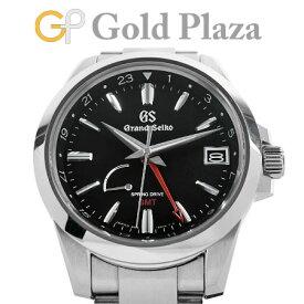グランド セイコー Grand Seiko SBGE213 GMT ヘリテージコレクション ステンレス 腕時計 スプリングドライブ ブラック文字盤 GS【中古】