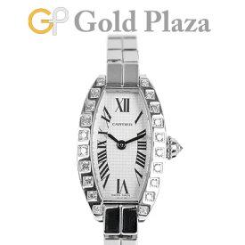カルティエ CARTIER ミニ トノー ラニエール ダイヤモンド ベゼル WJ2004W3 K18WG(ホワイトゴールド) 腕時計 クォーツ 2545【中古】