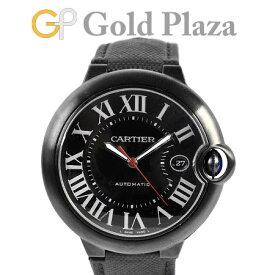 カルティエ Cartier バロンブルー ドゥ カルティエ 42mm メンズ WSBB0015 自動巻き 腕時計 ステンレス(ADLC) ブラック文字盤 Dバックル 3765【中古】