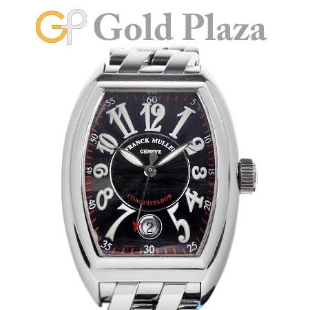 フランクミュラー FRANCK MULLER 【OH/仕上げ済】 コンキスタドール 8005SC ステンレス メンズ 腕時計 自動巻き ブラック文字盤 【中古】