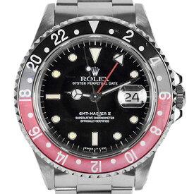 ロレックス ROLEX GMTマスター2 16710 T番 赤黒ベゼル ステンレス メンズ 時計 自動巻き ブラック文字盤【中古】