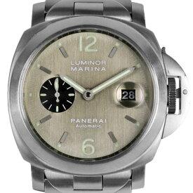パネライ PANERAI ルミノール マリーナ 44mm D番 メンズ 時計 チタン 自動巻き グレー文字盤 PAM00091【中古】