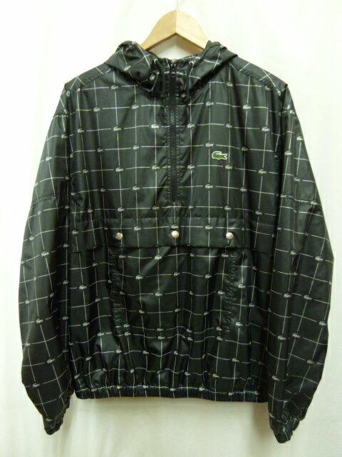 SUPREME LACOSTE 18SS Reflective Grid Nylon Anorak Jacket ナイロン アノラックジャケット SIZE L 【中古】 rm