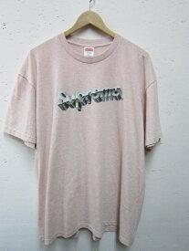 SUPREME シュプリーム 20SS Chrome Logo Tee クロームロゴ Tシャツ sizeXL ヘザー ピンク【中古】rm