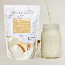 PURE DIAMOND ピュアダイアモンド グラスフェッド プロテイン プレーン味 750g ホエイプロテイン 岡部友プロデュース   プロテイン 健康食品 たんぱく質 サプリ サプリメント タンパク質 筋力 ホエイ プロテインパウダー ゴールドジム 女性 筋トレ