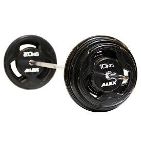 【現在入荷待ち】ALEX BPRラバーバーベルセット 120kg【日本総代理店】 【Φ28mmバーベルプレート】【Φ28mm高品質バーベルバー】