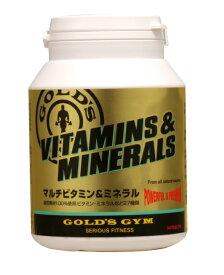 GOLD'S GYM ゴールドジム マルチビタミン&ミネラル 180粒入り | 100%天然素材使用 自然素材 着色料無し 保存料無添加 サプリメント 栄養補給 コンディションイング