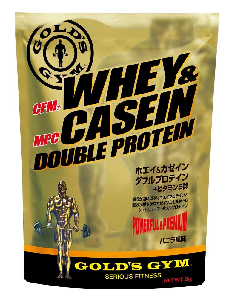 GOLD'S GYM(ゴールドジム)ホエイ&カゼインダブルプロテイン 900g(バニラ風味) |プロテインサプリメント 健康食品 たんぱく質 サプリ タンパク質 筋力 就寝前 カゼインプロテイン カゼイン ホエイプロテイン ビタミン golds gold