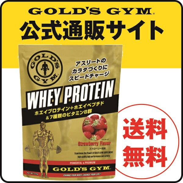 GOLD'S GYM(ゴールドジム)ホエイプロテイン ストロベリー風味720g |プロテインサプリメント プロテイン 溶けやすい 健康食品 たんぱく質 タンパク質 筋力 ホエイ golds gold ビタミン ペプチド アミノ酸 BCAA bcaa WPI wpi