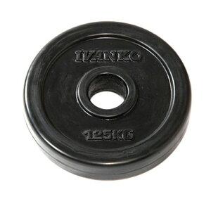 IVANKO イヴァンコ 社製 スタンダードラバープレート 1.25kg RUBK-1.25【日本総代理店】 【Φ28mm高品質バーベルプレート】