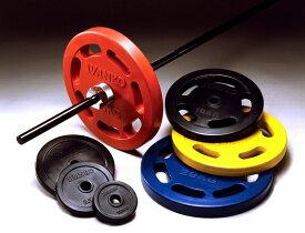 【Φ28mm高品質バーベルプレート】IVANKO(イヴァンコ)社製スタンダードラバーイージーグリッププレート(カラータイプ) 20kg(青色) RUBKZC-20