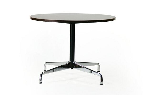 ■送料無料■新品■イームズ コントラクトテーブル 丸テーブル アルミナムテーブル ラウンドテーブル 直径100 cm 高さ74cm ■ウォールナット ST