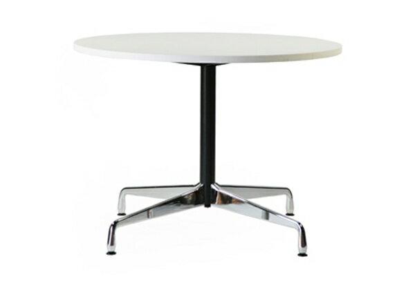 ■送料無料■新品■イームズ コントラクトテーブル 丸テーブル アルミナムテーブル ラウンドテーブル 直径100 cm 高さ74cm ■ホワイト ST