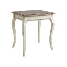 送料無料 新品 アンティーク調 サイドテーブル Lサイズ W約52×D約45×H約56.5cm ホワイト 花台 ネストテーブル アンティーク家具 木製 テーブル アンティーク風 アンティーク インテリア 家具 ベッドサイドテーブル シャビーシック シャビー 白 antiqueh01whl
