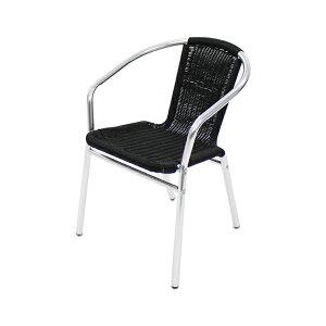 送料無料 アルミチェア 1脚 人工ラタン ダイニングチェア リゾートチェア ガーデンチェア ラタンチェア スタッキングチェア 会議椅子 ラウンジチェア 軽量で持ち運び簡単 ビーチチェア ア