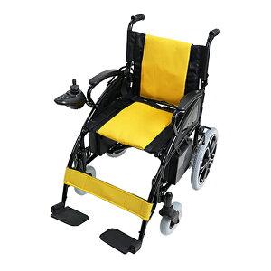 送料無料 新品 電動車椅子 黄 折りたたみ 車椅子 TAISコード取得済 コンパクト ノーパンクタイヤ 電動 手動 充電 電動ユニット 電動アシスト 電動カート 折り畳み 車椅子 車イス 車いす 四輪