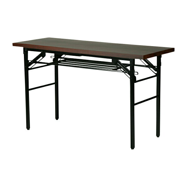 送料無料 新品 棚付 折りたたみ 折畳み 会議テーブル 会議用テーブル ミーティングテーブル 高脚 120x45x70cm 7651S