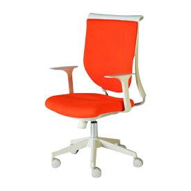送料無料 新品 スキットチェア/高さ調節可能 オフィスチェア ロッキングチェア ミーティングチェア 会議椅子 パソコンチェア 肘付き デザイナーズ ロッキング機能 会議用 肘かけ取り外し可能 オレンジ