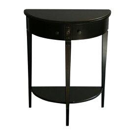 送料無料 新品 ブラックロココ コンソールテーブル サイドテーブル 花台 F6127BG ブラック