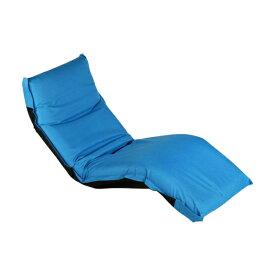 送料無料 新品 5段階調節可能 フロアチェア 座椅子 リクライニング 座イス 1人掛け 02Ablue