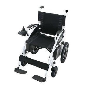 送料無料 電動車椅子 白 折りたたみ 車椅子 PSE適合 TAISコード取得済 コンパクト ノーパンクタイヤ 電動 手動 充電 電動ユニット 電動アシスト 電動カート 折り畳み 車椅子 車イス 車いす 四