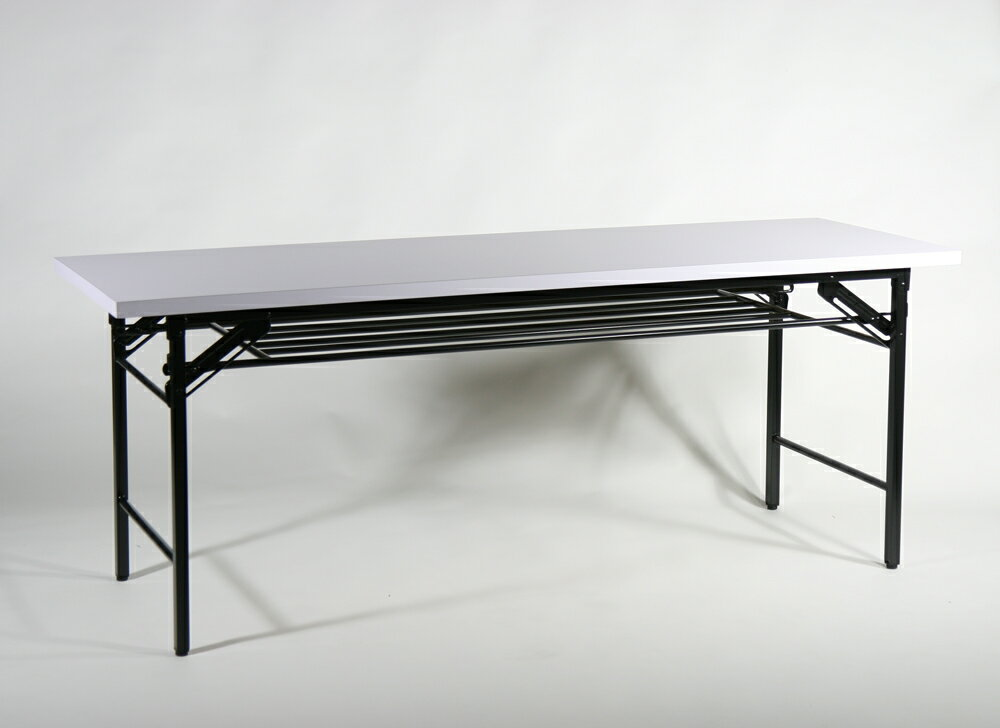 送料無料 新品 折畳み 会議テーブル 会議用テーブル 高脚 ミーティングテーブル 180x60x70 cm 1800x600x700mm 7651B-WH
