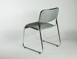 送料無料新品4脚セットファブリックミーティングチェア会議イス会議椅子スタッキングチェアパイプチェアパイプイスパイプ椅子グレー