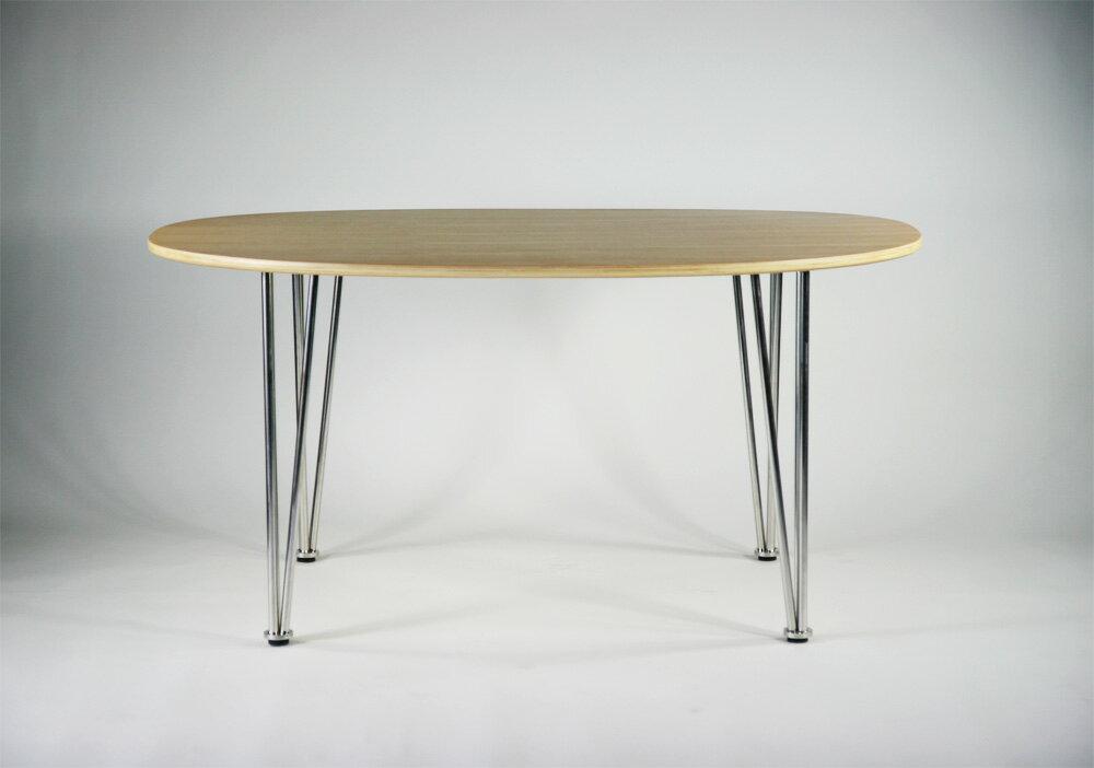 ■送料無料■新品■北欧デザイナーズ スーパー楕円テーブル■ナチュラル