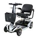 送料無料 新品 電動シニアカート 白 シルバーカー 車椅子 TAISコード取得済 運転免許不要 折りたたみ 軽量 コンパクト…